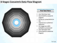 8 Stages Concentric Data Flow Diagram Business Plan PowerPoint Slides