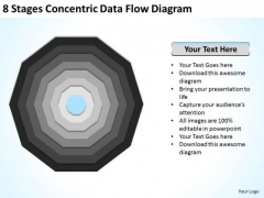 8 Stages Concentric Data Flow Diagram Business Plans For PowerPoint Slides