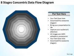 8 Stages Concentric Data Flow Diagram Ppt Barbershop Business Plan PowerPoint Slides