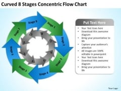 8 Stages Concentric Flow Chart Ppt Business Plan For Startup PowerPoint Templates