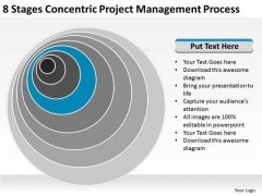 8 Stages Concentric Project Management Process Business Plan Samples PowerPoint Slides