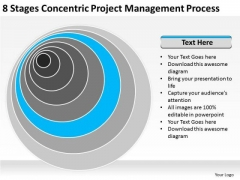8 Stages Concentric Project Management Process Business Plans PowerPoint Templates