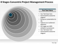 8 Stages Concentric Project Management Process Business Proposals Examples PowerPoint Slides