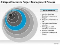 8 Stages Concentric Project Management Process Sales Plan PowerPoint Slides