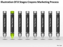 8 Stages Crayons Marketing Process Ppt 2 Business Plan Worksheet PowerPoint Templates