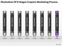 8 Stages Crayons Marketing Process Ppt Best Business Plan Templates PowerPoint