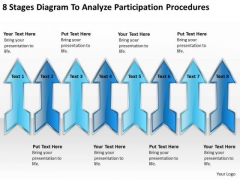 8 Stages Diagram To Analyse Participation Procedures Outline For Business Plan PowerPoint Slides