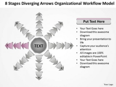 8 Stages Diverging Arrows Organizational Workflow Model Ppt Charts And PowerPoint Slides