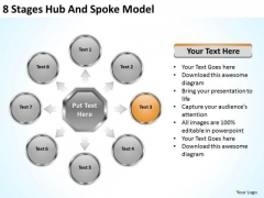 8 Stages Hub And Spoke Model Ppt Business Plan PowerPoint Templates
