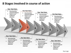 8 Stages Involved Course Of Action Best Flow Chart PowerPoint Templates