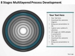 8 Stages Multilayered Process Development Business Tax Planning PowerPoint Templates
