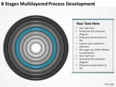 8 Stages Multilayered Process Development Ppt Business Plan PowerPoint Slides