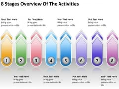 8 Stages Overview Of The Activities Small Business Plans Template PowerPoint Templates