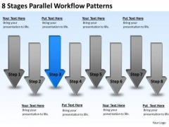 8 Stages Parallel Workflow Patterns Building Business Plan PowerPoint Slides