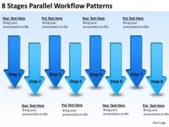 8 Stages Parallel Workflow Patterns Business Development Plan Template PowerPoint Templates