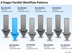8 Stages Parallel Workflow Patterns Business Plan Form PowerPoint Slides