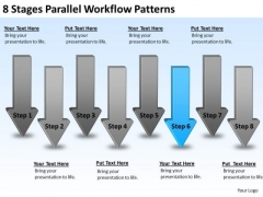 8 Stages Parallel Workflow Patterns Company Business Plan PowerPoint Slides