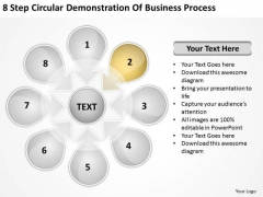8 Step Circular Demonstration Of Business Process Plans Start Up PowerPoint Slides