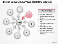 8 Steps Converging Arrows Workflow Diagram Circular Layout Process PowerPoint Template