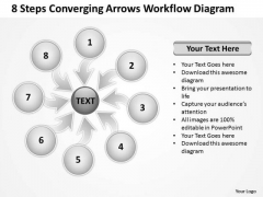 8 Steps Converging Arrows Workflow Diagram Circular Layout Process PowerPoint Templates