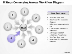 8 Steps Converging Arrows Workflow Diagram Cycle Network PowerPoint Templates