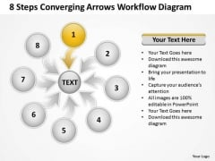 8 Steps Converging Arrows Workflow Diagram Ppt Circular Layout Process PowerPoint Templates