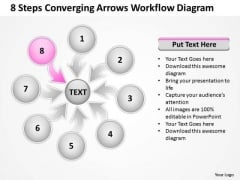 8 Steps Converging Arrows Workflow Diagram Ppt Cycle Network PowerPoint Template