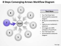 8 Steps Converging Arrows Workflow Diagram Ppt Cycle Network PowerPoint Templates