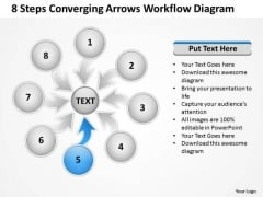 8 Steps Converging Arrows Workflow Diagram Ppt Process Software PowerPoint Slides