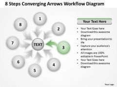 8 Steps Converging Arrows Workflow Diagram Process Software PowerPoint Slide