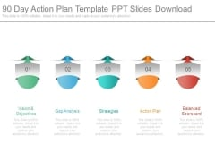 90 Day Action Plan Template Ppt Slides Download