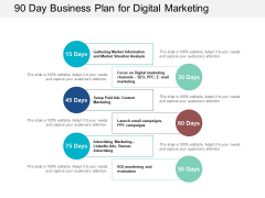 90 Day Business Plan For Digital Marketing Ppt PowerPoint Presentation Outline Guide