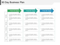90 Day Business Plan Ppt PowerPoint Presentation Show Background Designs