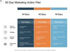 90 Day Marketing Action Plan Ppt PowerPoint Presentation Ideas Vector