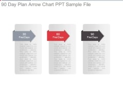 90 Day Plan Arrow Chart Ppt Sample File