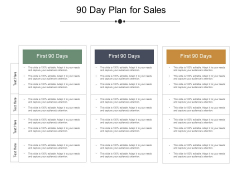 90 Day Plan For Sales Ppt PowerPoint Presentation Portfolio Gallery