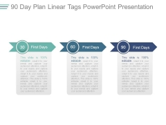 90 Day Plan Linear Tags Powerpoint Presentation