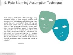 9 Role Storming Assumption Technique Ppt PowerPoint Presentation Guide