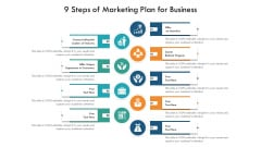 9 Steps Of Marketing Plan For Business Ppt PowerPoint Presentation Gallery Background Image PDF