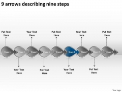 9 Arrows Describing Nine Steps Business Workflow Management Slides PowerPoint Templates
