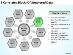 9 Correlated Blocks Of Structured Data Business Plans That Work PowerPoint Templates