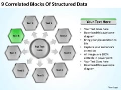 9 Correlated Blocks Of Structured Data Ppt Hotel Business Plan Example PowerPoint Slides