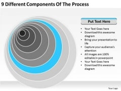 9 Different Components Of The Process Ppt Business Plan PowerPoint Templates