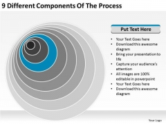 9 Different Components Of The Process Ppt Business Planning PowerPoint Templates