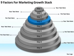 9 Factors For Marketing Growth Stack Business Continuity Plan Sample PowerPoint Slides