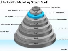 9 Factors For Marketing Growth Stack Business Plan Template Word PowerPoint Slides
