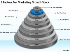 9 Factors For Marketing Growth Stack Ppt Business Action Plan Sample PowerPoint Templates