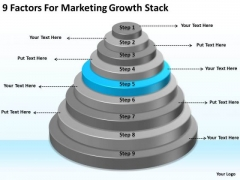 9 Factors For Marketing Growth Stack Ppt Business Plan PowerPoint Slides