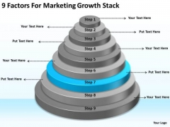 9 Factors For Marketing Growth Stack Ppt Business Plan PowerPoint Templates