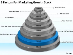 9 Factors For Marketing Growth Stack Ppt Plans PowerPoint Slides